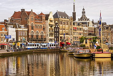 Rokin Canal, Amsterdam, North Holland, Netherlands, Europe