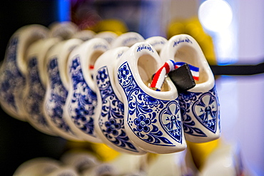Delft delftware porcelain clogs, Edam, North Holland, Netherlands, Europe