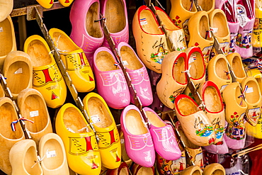 Souvenir clogs (wooden shoes), Volendam, North Holland, Netherlands, Europe