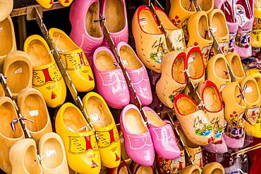 Souvenir clogs (wooden shoes), Volendam, North Holland, Netherlands, Europe