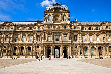 The Cour Carree courtyard at The Louvre, Paris, France, Europe