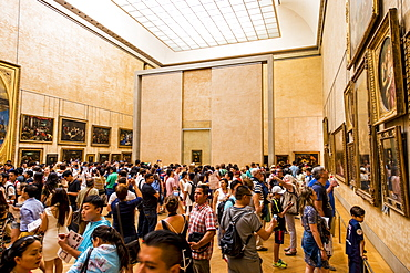 The Mona Lisa room at The Louvre, Paris, France, Europe