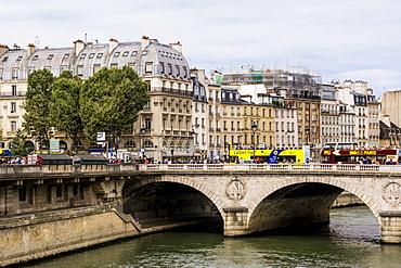 The Pont au Change bridge over Seine River, Paris, France, Europe