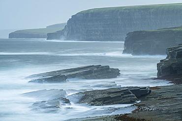Dramatic coastal scenery near the Brough of Birsay, Mainland, Orkney Islands, Scotland, United Kingdom, Europe