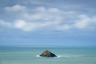 Newland Island off the coast of Pentire Point, North Cornwall, England, United Kingdom, Europe