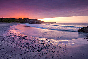 Sunrise over Kennack Sands on the Lizard, Cornwall, England, United Kingdom, Europe