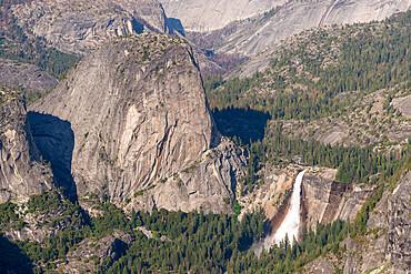 Nevada Fall waterfall in Yosemite National Park, UNESCO World Heritage Site, California, United States of America, North America