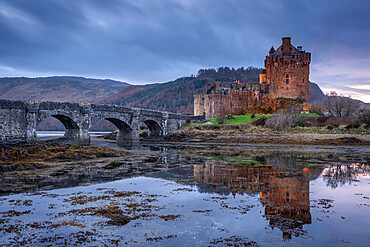 Eilean Donan Castle on Loch Duich in the Scottish Highlands, Scotland, United Kingdom, Europe