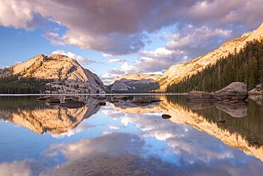 Reflections in Tenaya Lake in Yosemite National Park, UNESCO World Heritage Site, California, United States of America, North America