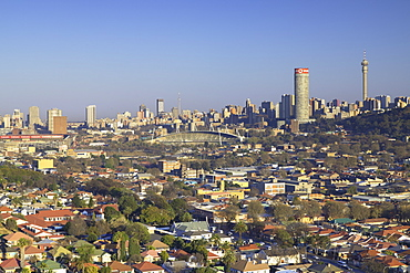 View of skyline, Johannesburg, Gauteng, South Africa, Africa