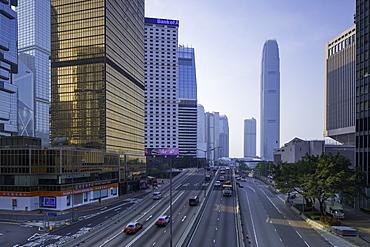 International Finance Centre (IFC) and Connaught Road, Central, Hong Kong Island, Hong Kong, China, Asia