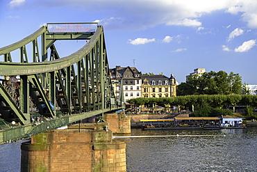 Iron Bridge and River Main, Frankfurt, Hesse, Germany, Europe