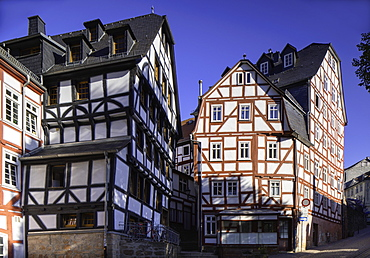 Half-timbered buildings, Marburg, Hesse, Germany, Europe