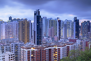 Apartment blocks, Shek Kip Mei, Kowloon, Hong Kong, China, Asia