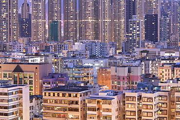Apartment blocks, Kowloon, Hong Kong, China, Asia