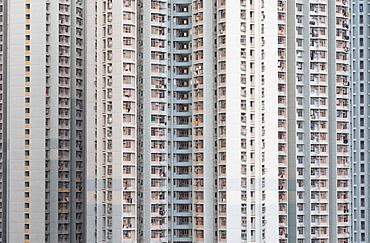 Public housing apartments, Shek Kip Mei, Kowloon, Hong Kong, China, Asia