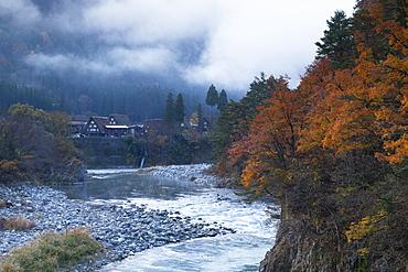 Traditional houses of Ogimachi, UNESCO World Heritage Site, Shirakawa-go, Toyama Prefecture, Honshu, Japan, Asia