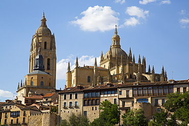 Nuestra Senora de la Asuncion y San Frutos Cathedral, Segovia, UNESCO World Heritage Site, Castile y Leon, Spain, Europe