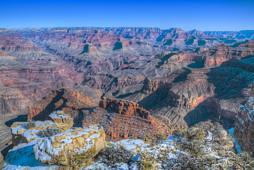 From Powell Point, South Rim, Grand Canyon National Park, UNESCO World Heritage Site, Arizona, United States of America, North America