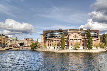 Swedish Parliament Building, Gamla Stan, Stockholm, Sweden, Scandinavia, Europe
