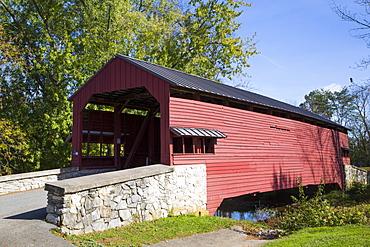Shearer's Covered Bridge, built 1847, Lancaster County, Pennsylvania, United States of America, North America