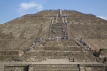Pyramid of the Sun, Teotihuacan Archaeological Zone, UNESCO World Heritage Site, State of Mexico, Mexico, North America