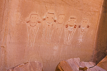 Five Faces Pictograph, Canyonlands National Park, Utah, United States of America, North America