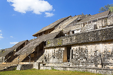 Structure 1 with Covered Stucco Facade, The Acroplolis, Ek Balam, Yucatec-Mayan Archaeological Site, Yucatan, Mexico, North America