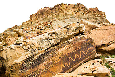 The Snake Petroglyph Panel, San Rafael Swell, Utah, USA
