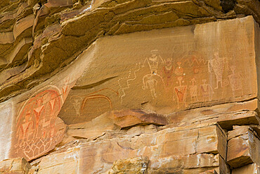 Rainbow Pictograph Panel, Ferron Box, Near Ferron, Utah, USA