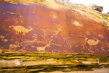 Nefertiti Petroglyphs, Gray Canyon, North of Green River, Utah, USA