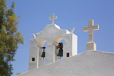 Belfry, Adjacent Church, Orthodox Cathedral, 1870, Hora, Naxos Island, Cyclades Group, Greek Islands, Greece, Europe