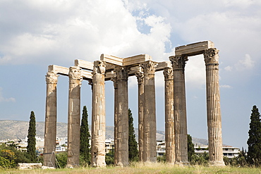 Temple of Olympian Zeus, Athens, Greece, Europe