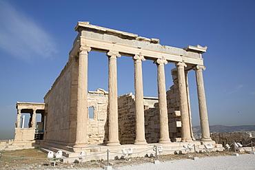 Temple of Erectheion, Acropolis, UNESCO World Heritage Site, Athens, Greece, Europe