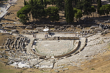 Theatre of Dionysos (Dionysus), Acropolis, UNESCO World Heritage Site, Athens, Greece, Europe