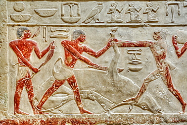 Reliefs, Mastaba of Idut, Step Pyramid Complex, UNESCO World Heritage Site, Saqqara; Egypt, North Africa, Africa