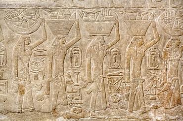 Reliefs, Mastaba of Mereruka, Necropolis of Saqqara, UNESCO World Heritage Site, Saqqara, Egypt, North Africa, Africa