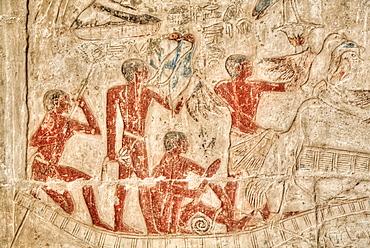Reliefs, Mastaba of Ankh-Ma-Hor, Necropolis of Saqqara, UNESCO World Heritage Site, Saqqara, Egypt, North Africa, Africa