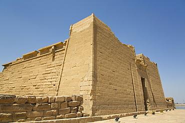 Front Pylon, Temple of Mandulis, Kalabsha, UNESCO World Heritage Site, near Aswan, Nubia, Egypt, North Africa, Africa