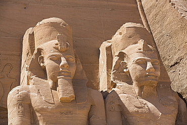 Ramses II statues, Ramses II Temple, UNESCO World Heritage Site, Abu Simbel, Nubia, Egypt, North Africa, Africa