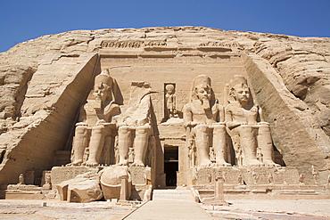Ramses II Temple, UNESCO World Heritage Site, Abu Simbel, Nubia, Egypt, North Africa, Africa