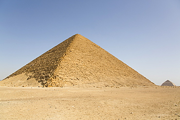Red Pyramid, with Bent Pyramid in background, UNESCO World Heritiage Site, Dahshour, Egypt, North Africa, Africa