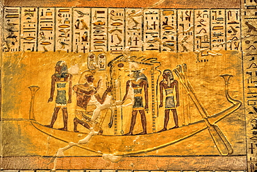 Murals, Tomb of Ramses IV, KV2, Valley of the Kings, UNESCO World Heritage Site, Luxor, Thebes, Egypt, North Africa, Africa