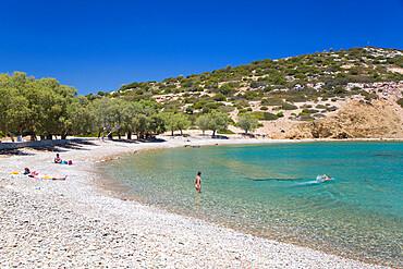 Sesklia Beach, Symi (Simi) Island, Dodecanese Island Group, Greek Islands, Greece, Europe