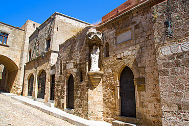 Church of St. Trinity, 15th century, Street of the Knights, Rhodes Old Town, UNESCO World Heritage Site, Rhodes, Dodecanese Island Group, Greek Islands, Greece, Europe