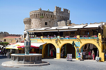 Hippocrates Square, Rhodes Old Town, Rhodes, Dodecanese Island Group, Greek Islands, Greece, Europe