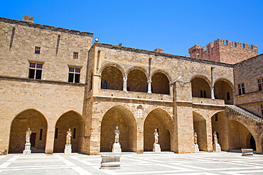 Courtyard, Archaeological Museum, Rhodes Old Town, UNESCO World Heritage Site, Rhodes, Dodecanese Island Group, Greek Islands, Greece, Europe