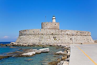 St. Nicholas Fort, Rhodes, Dodecanese Island Group, Greek Islands, Greece, Europe