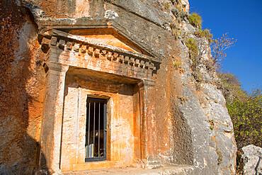 Lycian Tomb, 4th century BC, Kastellorizo (Megisti) Island, Dodecanese Group, Greek Islands, Greece, Europe