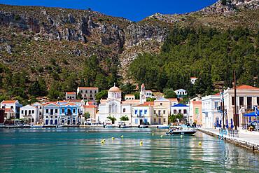 Kastellorizo Harbour, Kastellorizo (Megisti) Island, Dodecanese Group, Greek Islands, Greece, Europe